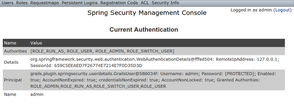 Spring Security UI Plugin - Reference Documentation